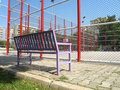 Basketball Field And Bench Royalty Free Stock Photo - 23769685