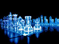 Glass Chess Pieces Stock Image - 23770541