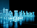 Glass Chess Pieces Stock Image - 23771721