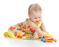 Child Playing With Musical Toy Stock Images - 23783674