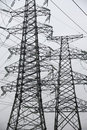 Power Lines In Black And White Royalty Free Stock Image - 23789076