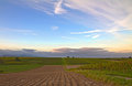Vineyards At Dusk In Pfalz, Germany Stock Images - 23789364