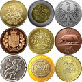 Vector Set Gold And Silver Coins Royalty Free Stock Photography - 23792857