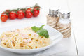 Pasta With Salmon Stock Photography - 23793402