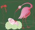Stork With Baby Royalty Free Stock Image - 23794766