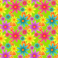 Seamless Colorful Flowers Royalty Free Stock Photo - 23796785