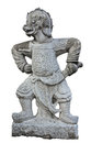 The Ancient Chinese Warrior Statues. Royalty Free Stock Photos - 23799038