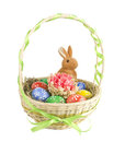 Easter Eggs In The Basket Royalty Free Stock Image - 23799446