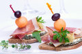Prosciutto Canapes Royalty Free Stock Images - 2384999
