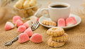 Sweet Cookies And Coffee. Royalty Free Stock Images - 23802869