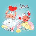 Crab In Love Royalty Free Stock Photos - 23810388