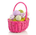 Easter Eggs In A Basket Stock Photography - 23811582