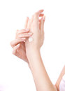 Hands With Cream Royalty Free Stock Image - 23822366