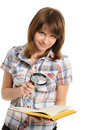 Eye And Magnifying Glass And Book Royalty Free Stock Photography - 23825607
