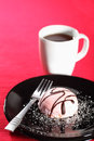 Pink Cream Cake And Coffee Royalty Free Stock Image - 23830356