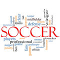 Soccer Word Cloud Concept Royalty Free Stock Photo - 23831545