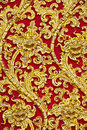 The Gold Stucco Design Of Native Thai Style On The Stock Photo - 23834470