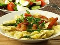 Pasta And Shrimps Stock Image - 23848561