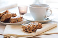 Homemade Biscuits And A Cup Of Tea Royalty Free Stock Photography - 23856457