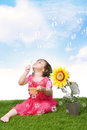 Playing With Bubbles Stock Photography - 23857842