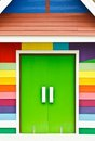 Bright Color Wood Door Stock Photography - 23863612
