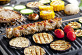 Meat Skewers On Grill Royalty Free Stock Photography - 23868757