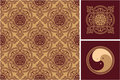 Set Of Oriental Design Elements Royalty Free Stock Photography - 23872637