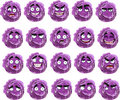 Cartoon Purple Cabbage Smile With Many Expressions Royalty Free Stock Image - 23873086