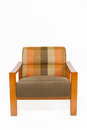 Colorful Upholstery Wooden Armchair Royalty Free Stock Photos - 23882608