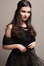 Black Dress And Pearls Royalty Free Stock Photography - 23888077
