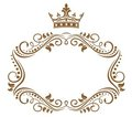 Elegant Royal Frame With Crown Royalty Free Stock Images - 23897489