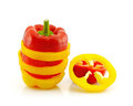 Sliced Red And Yellow Pepper Royalty Free Stock Photos - 23898338