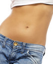 Belly Of A Beautiful Woman Stock Images - 23903134