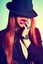 Sexy Woman In Hat Royalty Free Stock Photography - 23912347