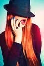 Sexy Woman In Hat Royalty Free Stock Photos - 23912368