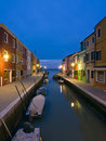 Burano Canal Reflections At Dusk Stock Images - 23915124