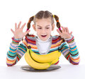 Girl With Banana Stock Photo - 23919420