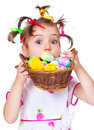 Surprised Easter Kid Royalty Free Stock Photos - 23920738