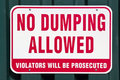 No Dumping Allowed Stock Images - 23926134
