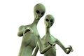 Two Aliens On White Background Royalty Free Stock Image - 23926206