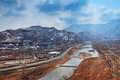 Yongdinghe River In Winter Royalty Free Stock Image - 23927126