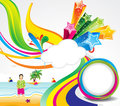 Abstract Colorful Summer Background Royalty Free Stock Photo - 23935805