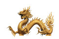 Golden Dragon Statue Royalty Free Stock Image - 23945836