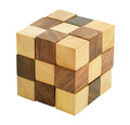 Puzzle In The Form Of Wooden Blocks Royalty Free Stock Image - 23953436