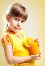 Girl With Juice Stock Photography - 23958752
