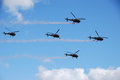 Five Helicopter Royalty Free Stock Image - 23984826