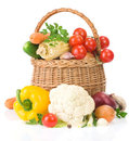 Healthy Vegetable Food On White Stock Image - 23996141