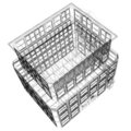 Perspective View Of Wireframe Building Stock Images - 23997224