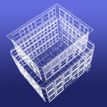 Perspective View Of Wireframe Building From Top Royalty Free Stock Images - 23997309