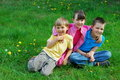 Children In Meadow Stock Photography - 2402372